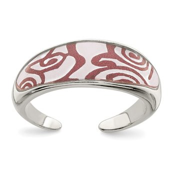 Sterling Silver Enameled Toe Ring
