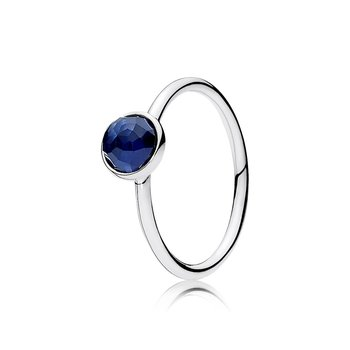 September Droplet Ring, Synthetic Sapphire