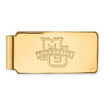 Gold-Plated Sterling Silver Marquette University NCAA Money Clip