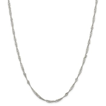 Sterling Silver 3mm Singapore Chain