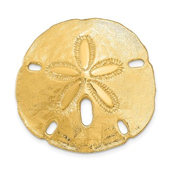 14K Fits Up To 8mm and 10mm Medium Sand Dollar Slide
