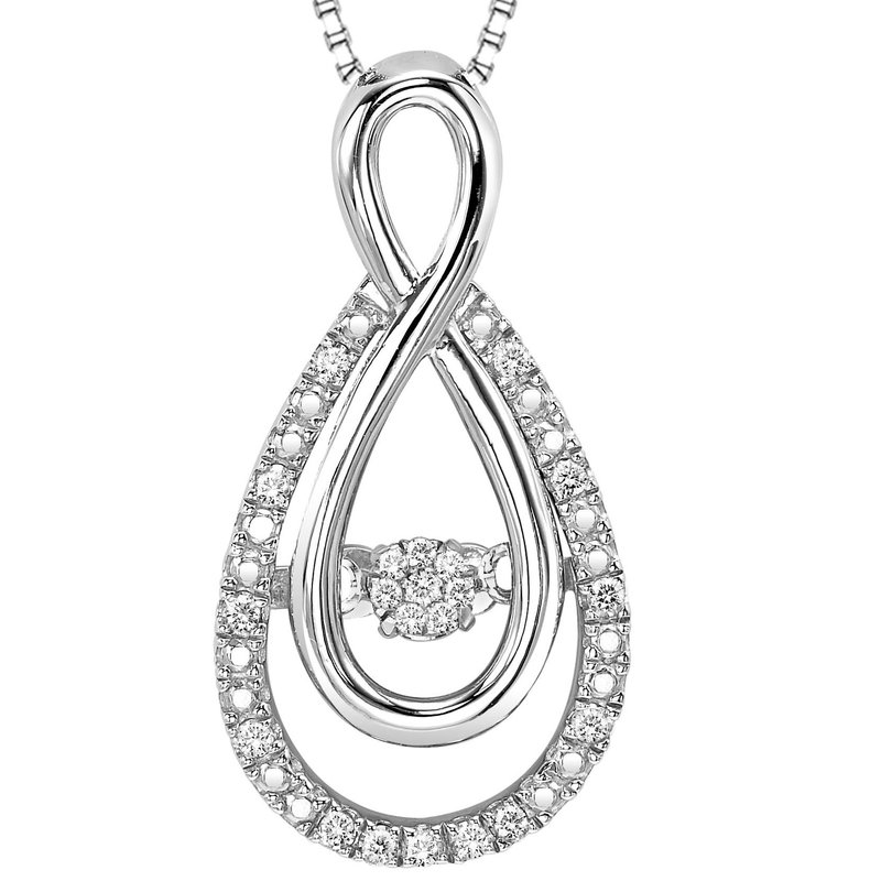 Rhythm of Love Silver Diamond Rhythm Of Love Pendant 1/10 ctw