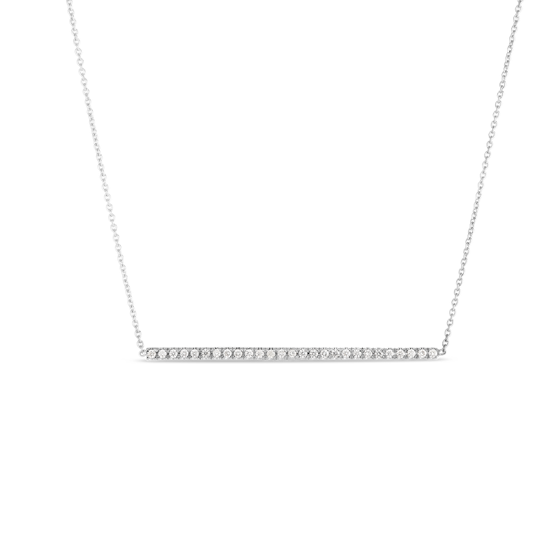 Roberto Coin DIAMOND BAR PENDANT ON CHAIN