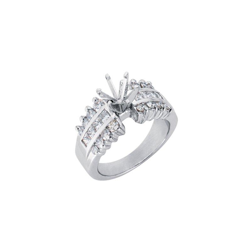 Marshall Jewelry: S  Kashi & Sons Platinum Semi Mountitng