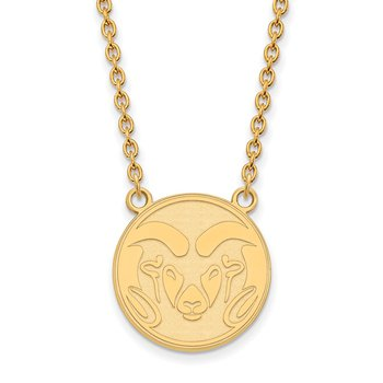 Gold Colorado State University NCAA Necklace