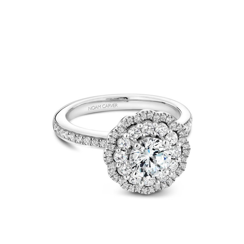 Noam Carver Double Halo Engagement Ring