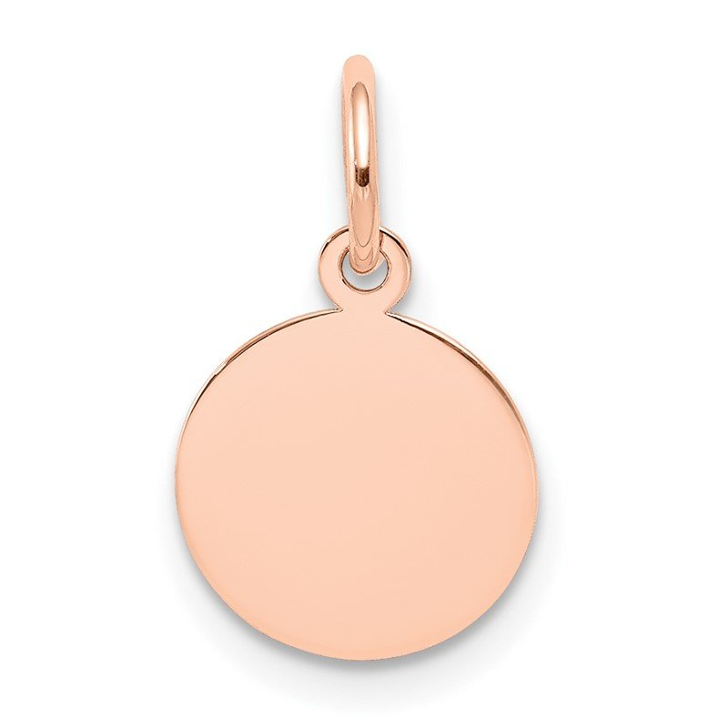 Quality Gold 14k Rose Gold Plain .013 Gauge Circular Engraveable Disc Charm