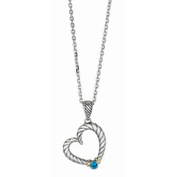 Silver & 18K Italian Cable Necklace