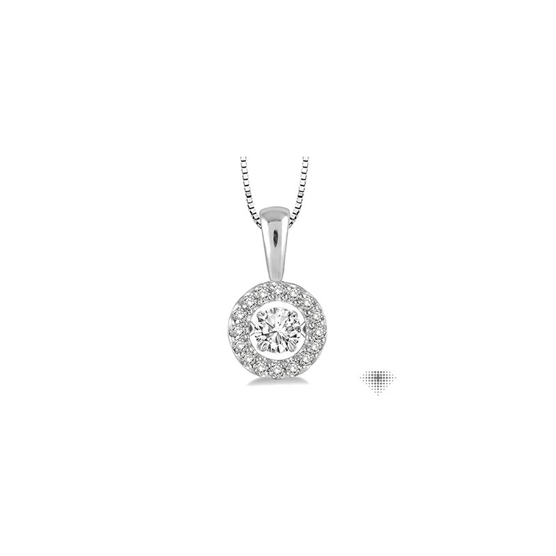 Emotion Diamonds Circle Shape Emotion Diamond Pendant