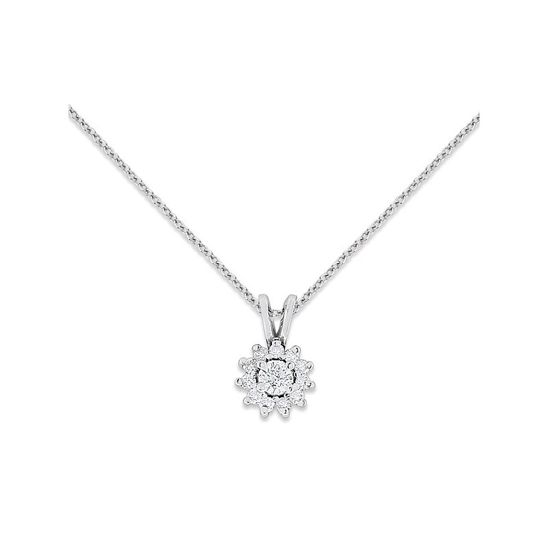 KC Designs Diamond Fashion Necklace in 14k White Gold with 12 Diamonds weighing .25ct tw.