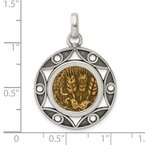 Quality Gold Sterling Silver Ancient Coins Bronze Antiqued Agrippa Coin Pendant