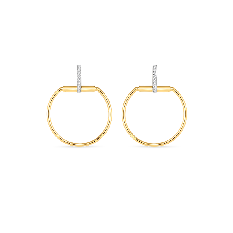 Roberto Coin  #19701 Of Earrings With Diamonds