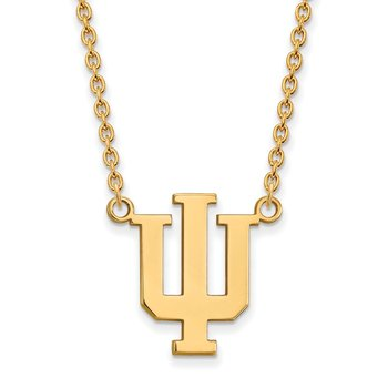 Gold Indiana University NCAA Necklace