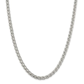 Sterling Silver 6mm Round Spiga Chain