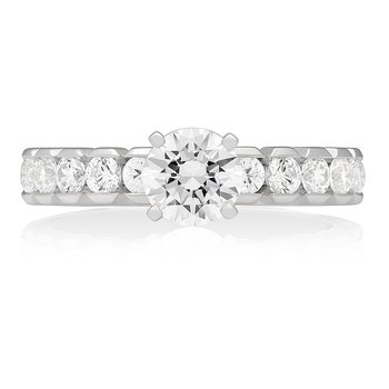 HALF-MOON BEZEL SOLITAIRE RING