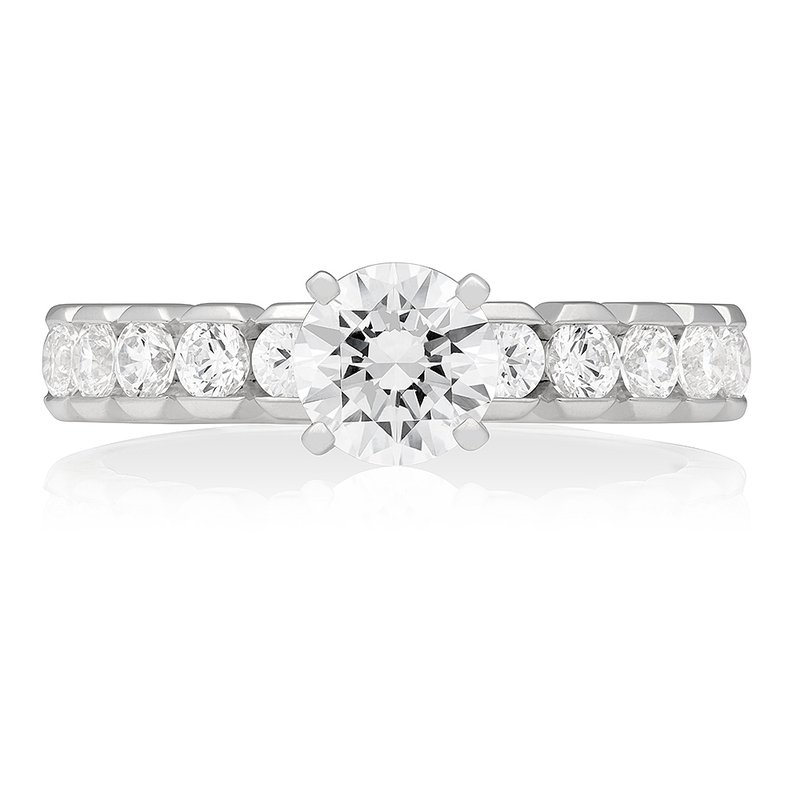 Veer HALF-MOON BEZEL SOLITAIRE RING