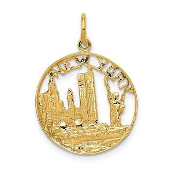 14k NEW YORK Skyline Charm
