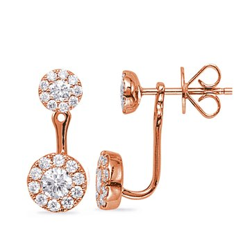Rose Gold Diamond Earring Jacket
