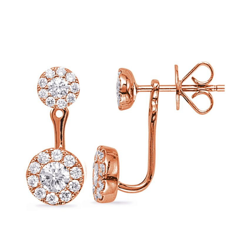 S. Kashi  & Sons Rose Gold Diamond Earring Jacket