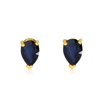 14k Yellow Gold Sapphire Pear-Shaped Earring