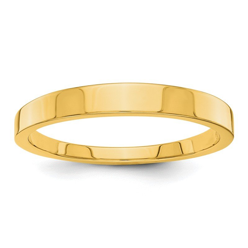 Quality Gold 14k 3mm Tapered Polished Band