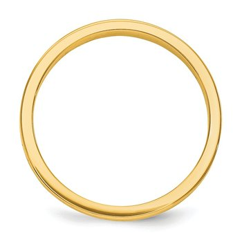 14k 3mm Tapered Polished Band