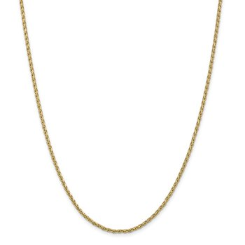 14k 2.25mm Parisian Wheat Chain