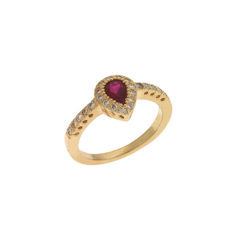 S. Kashi  & Sons Ruby & Diamond Riing