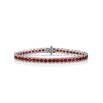 Brilliant in Red Ruby and Diamond Bracelet