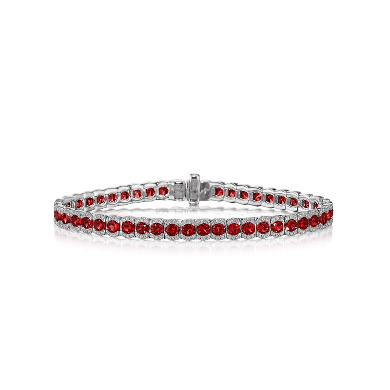 Fana Brilliant in Red Ruby and Diamond Bracelet