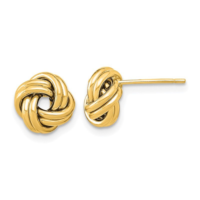Quality Gold 14k Polished Double Love Knot Post Earrings