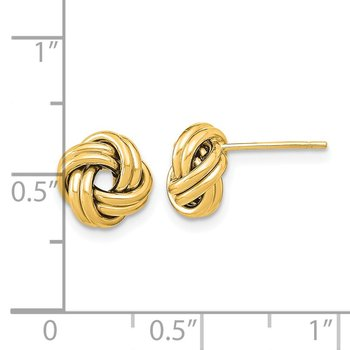 14k Polished Double Love Knot Post Earrings
