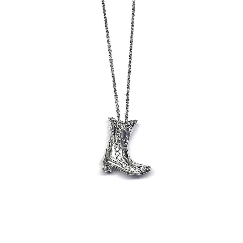 Roberto Coin 18Kt Gold Western Boot Pendant With Diamonds