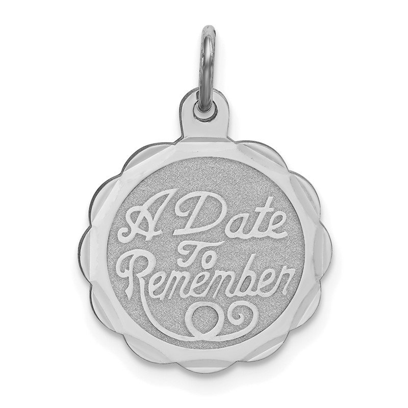Quality Gold Sterling Silver Rhodium-plated A Date To Remember Disc Charm