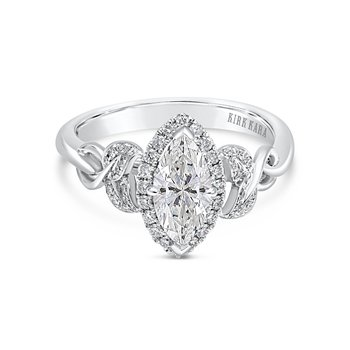 Marquise Halo Diamond Engagement Ring