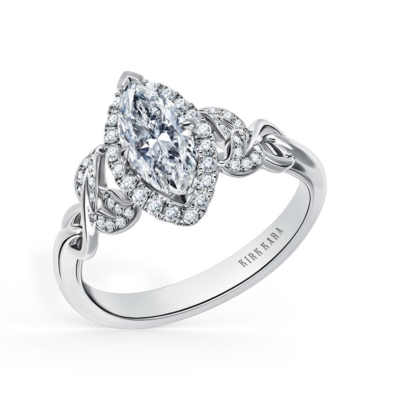 Kirk Kara Marquise Halo Diamond Engagement Ring