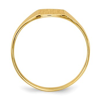 14k 6.5x7.0mm Closed Back Signet Ring