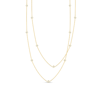 Necklace With 15 Diamond Stations &Ndash; 18K Yellow Gold