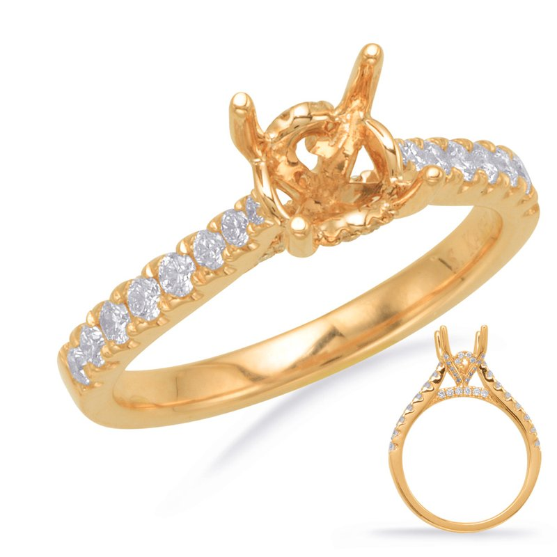 S. Kashi & Sons Bridal Yellow Gold Engagement Ring