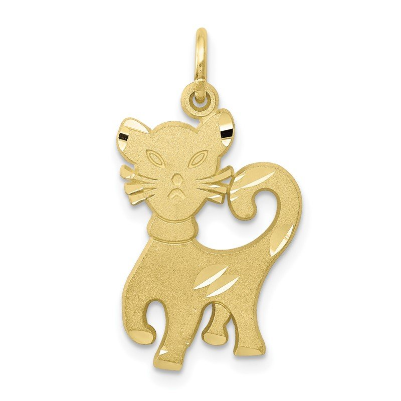 Quality Gold 10k Cat Charm