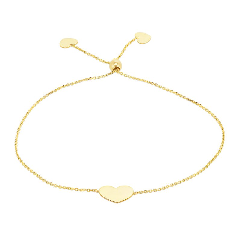 Royal Chain 14K Gold Heart Friendship Bracelet