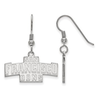 Sterling Silver University of San Francisco NCAA Earrings