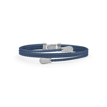 Blueberry Cable Modern Pass Bracelet with 18kt White Gold & Diamonds