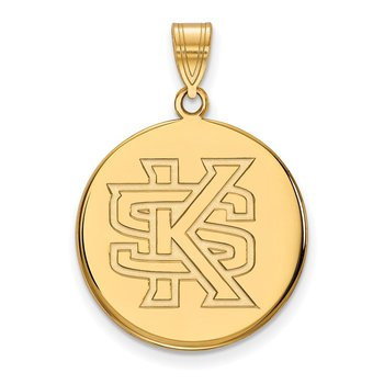 Gold-Plated Sterling Silver Kennesaw State University NCAA Pendant