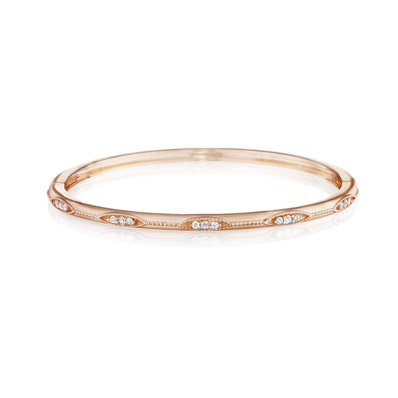Penny Preville Thin Diamond Station Graduated Bangle