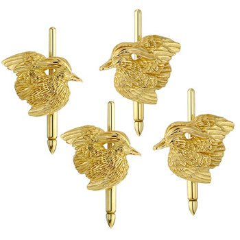 Wood Duck Studs - Set of 4 - 14kt Gold