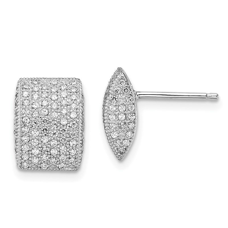 JC Sipe Essentials SS Rhodium-Plated CZ Brilliant Embers Post Earrings