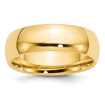 14k 7mm Comfort-Fit Band
