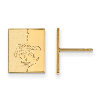 Gold-Plated Sterling Silver Pittsburg State University NCAA Earrings