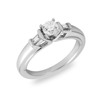 14K WG & PD Diamond Engagement Ring